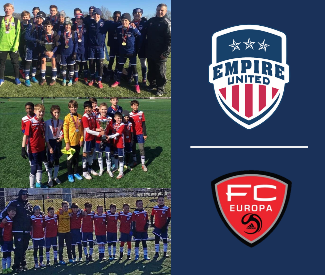 Empire United Rochester Wins Three Boys Groups at FC Europa Turf Cup