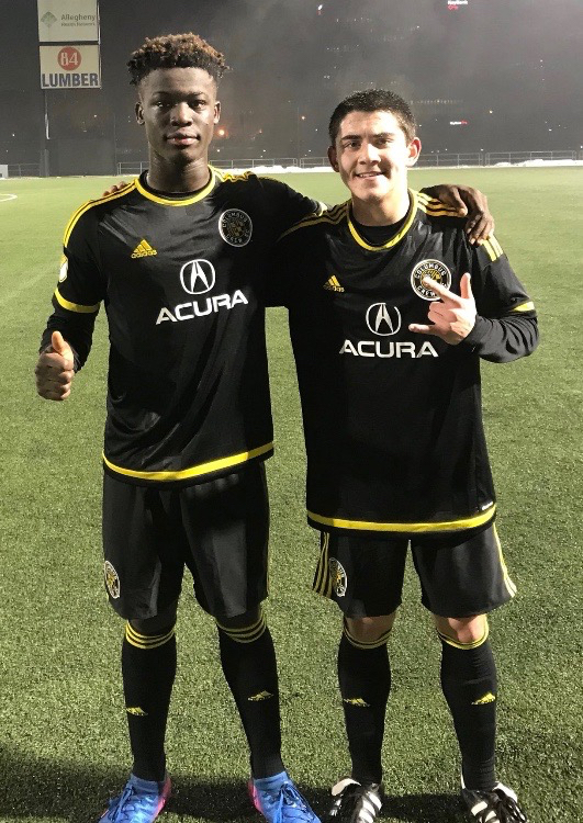 Empire United players play for Columbus Crew at Pittsburgh Riverhounds