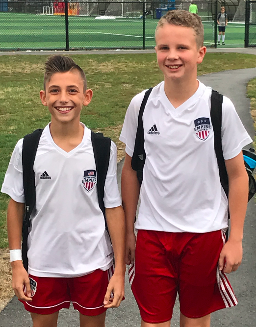 Empire United players attend the U.S Soccer National Training Center in Rhode Island
