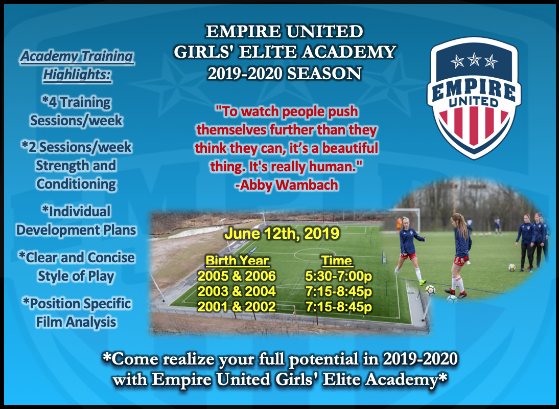 2019-2020 Empire United Girls Elite Academy