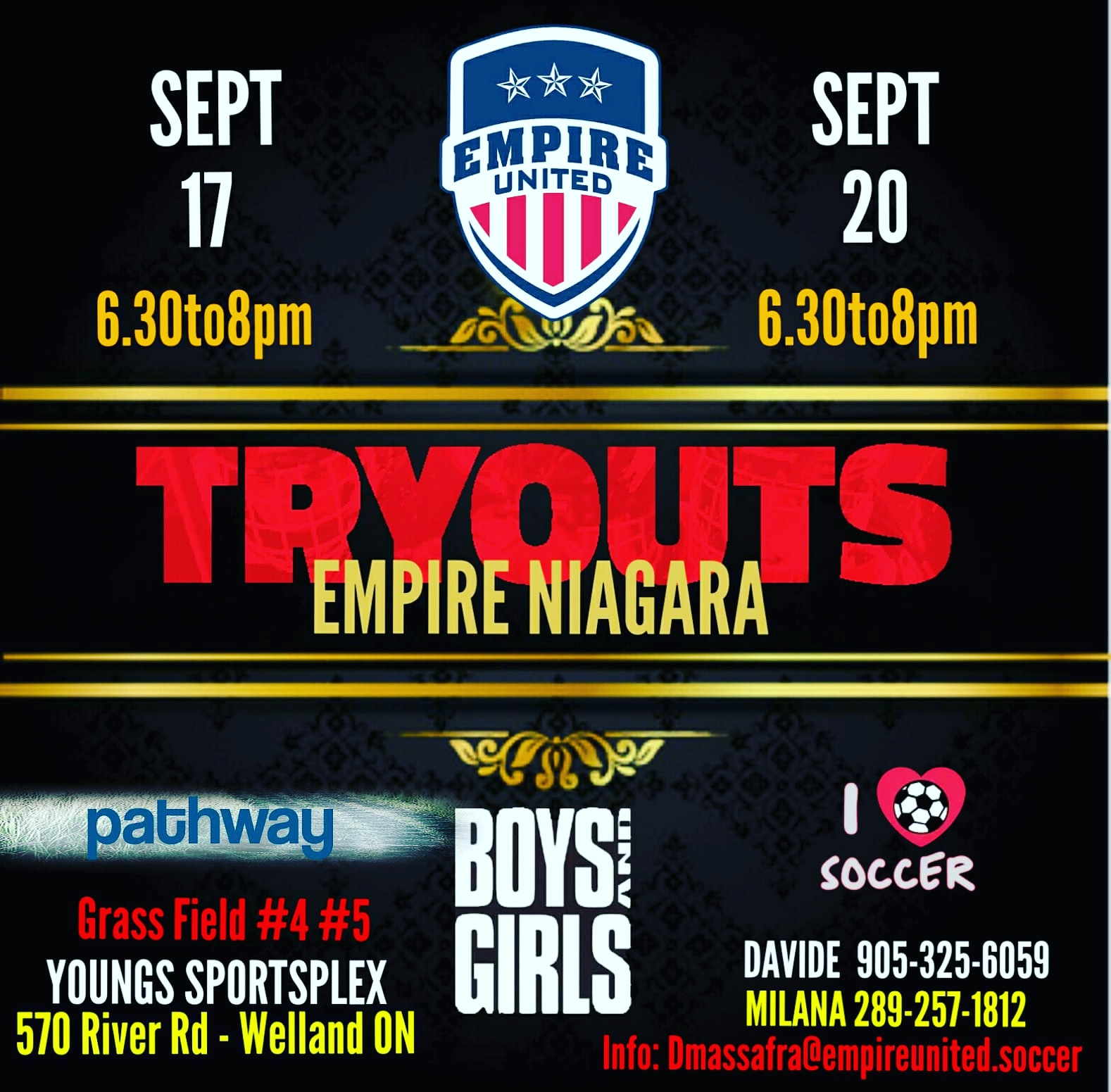 Empire Niagara TRYOUTS!!!!